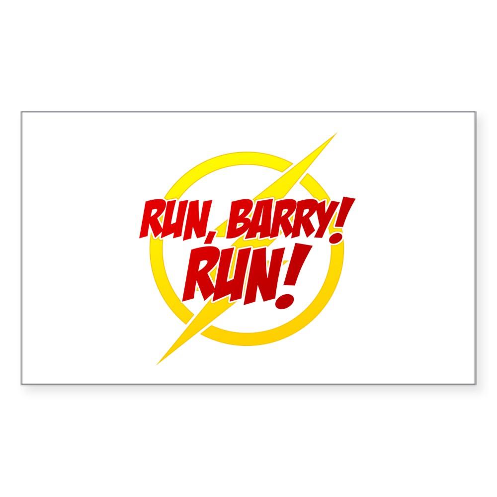 Run, Barry! Run! Rectangle Sticker