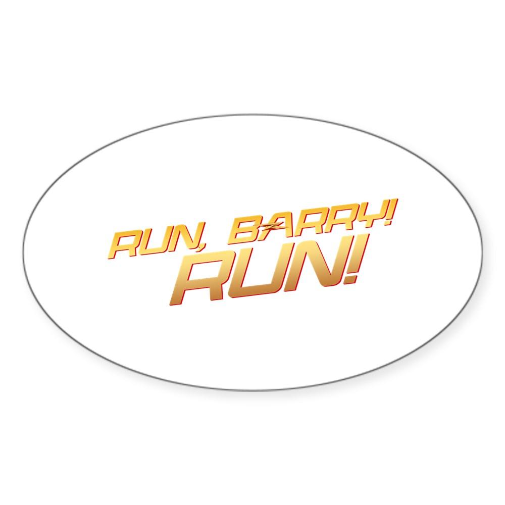 Run, Barry! Run! Oval Sticker
