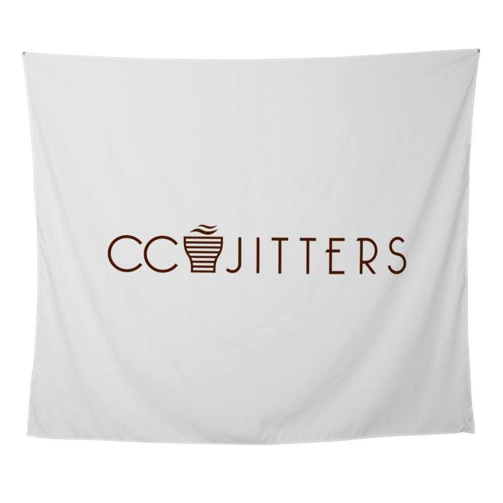 CC Jitters Logo Wall Tapestry