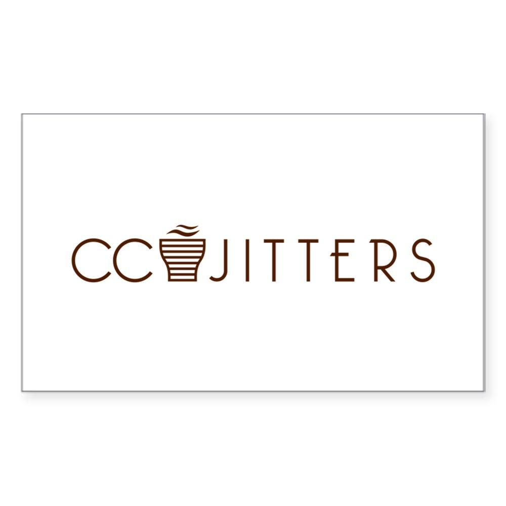 CC Jitters Logo Rectangle Sticker