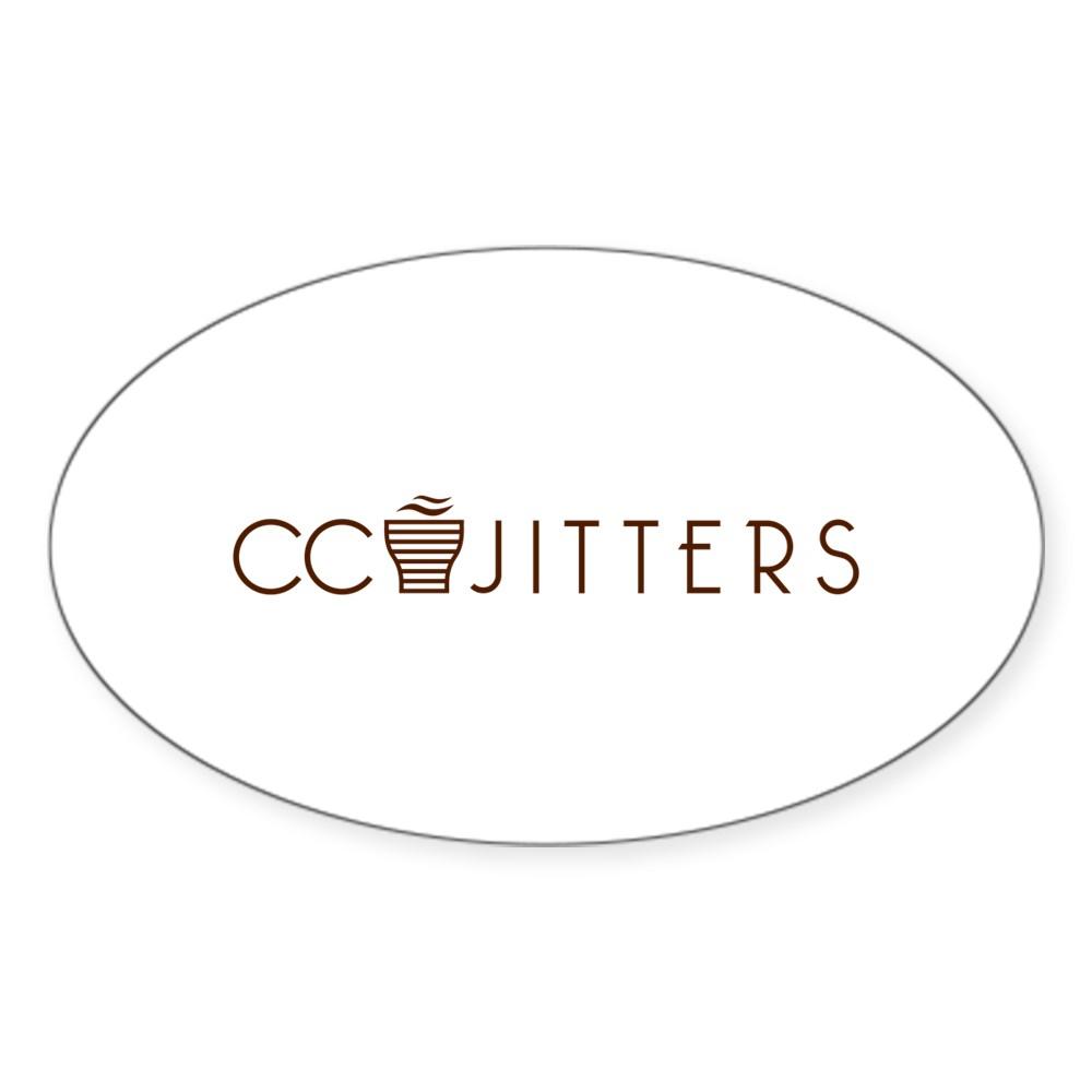 CC Jitters Logo Oval Sticker