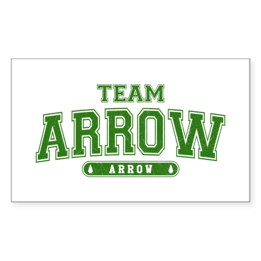 Team Arrow Athletic Rectangle Sticker