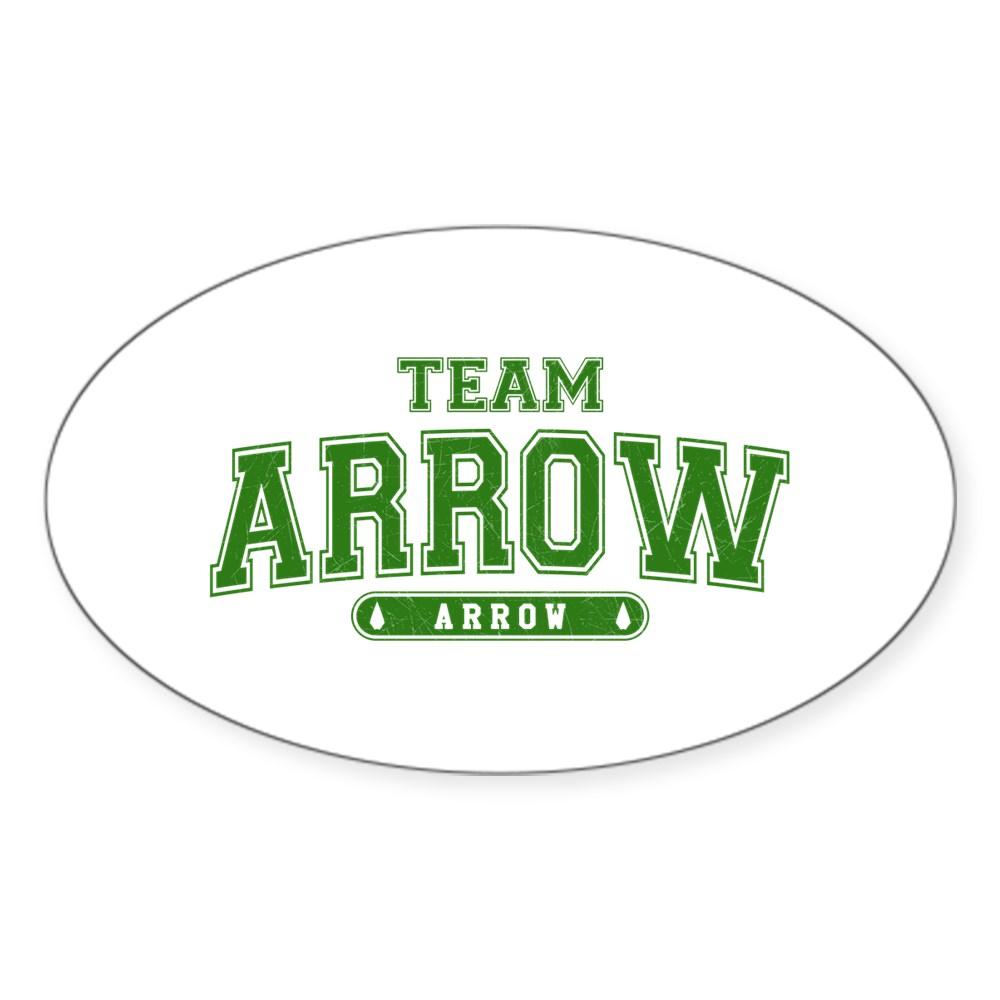 Team Arrow Athletic Oval Sticker
