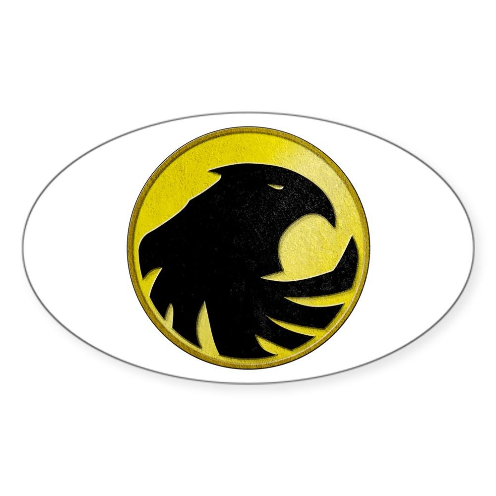 Black Canary Logo Oval Sticker