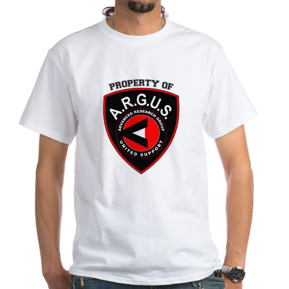 Property of ARGUS White T-Shirt