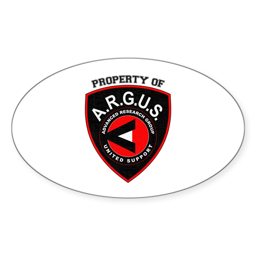 Property of ARGUS Oval Sticker