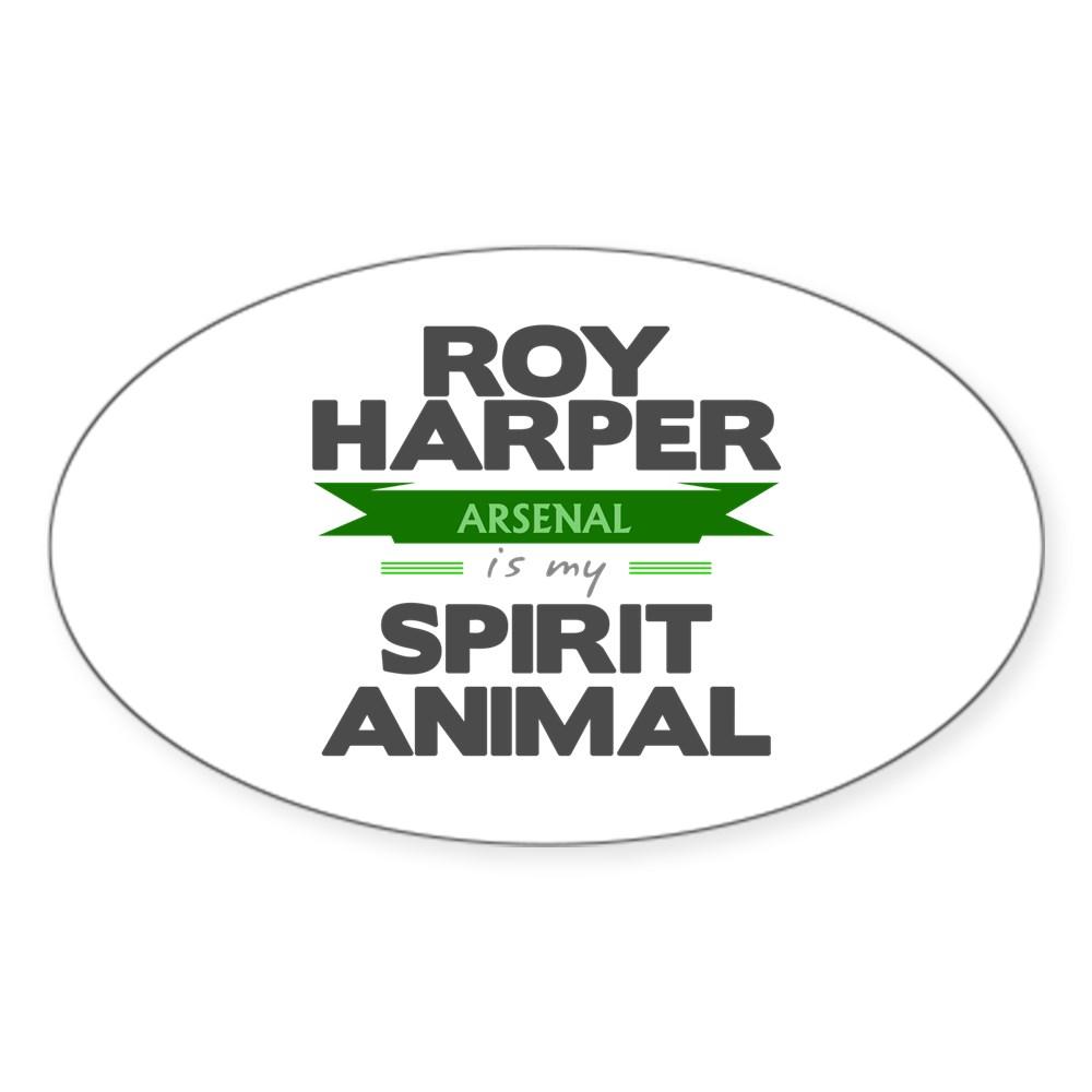 Roy Harper is my Spirit Animal Oval Sticker