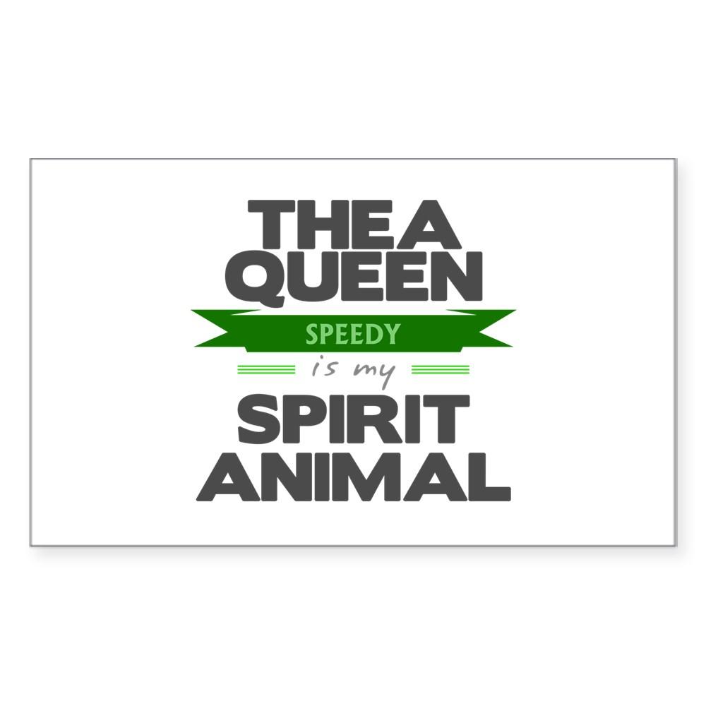 Thea Queen is my Spirit Animal Rectangle Sticker