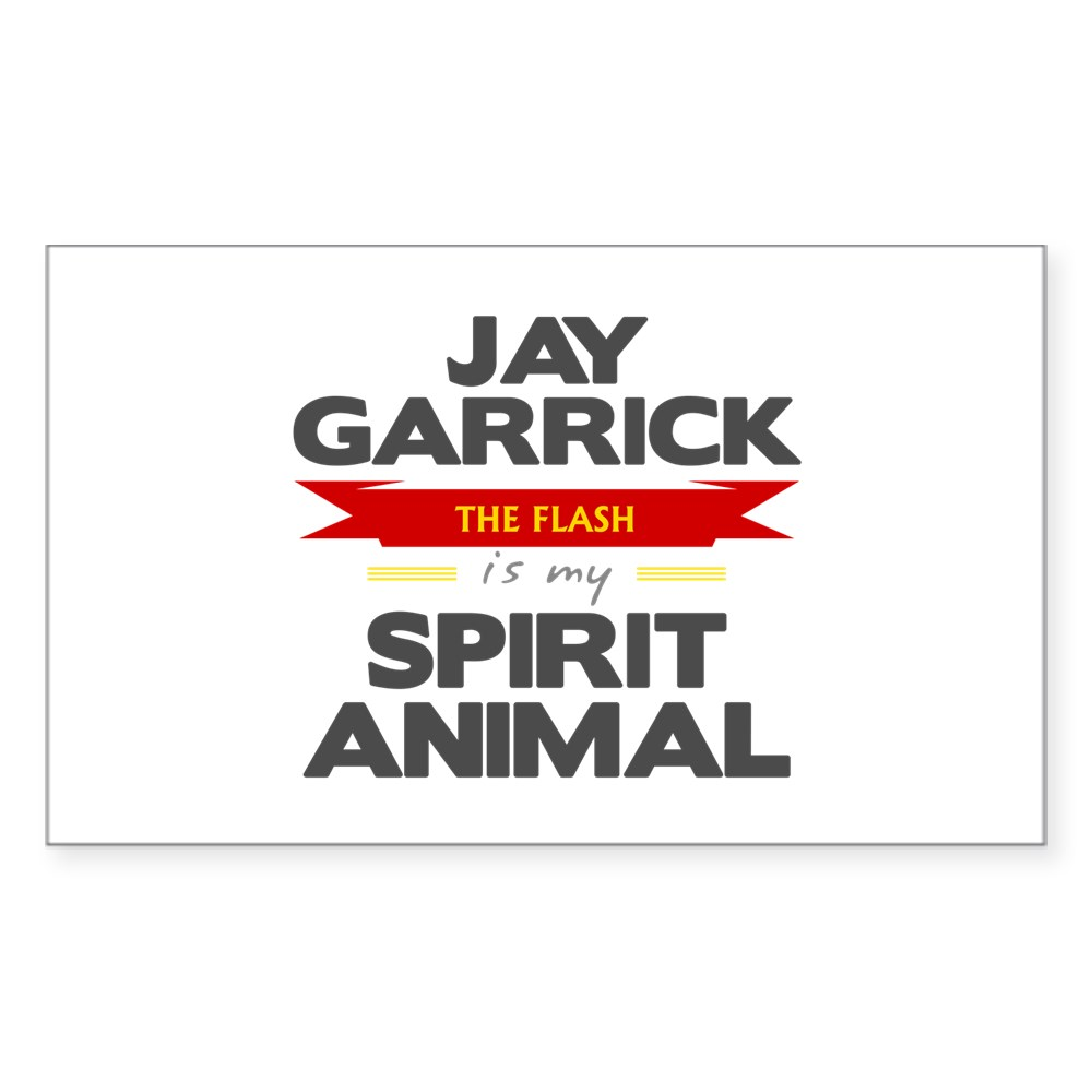 Jay Garrick is my Spirit Animal Rectangle Sticker
