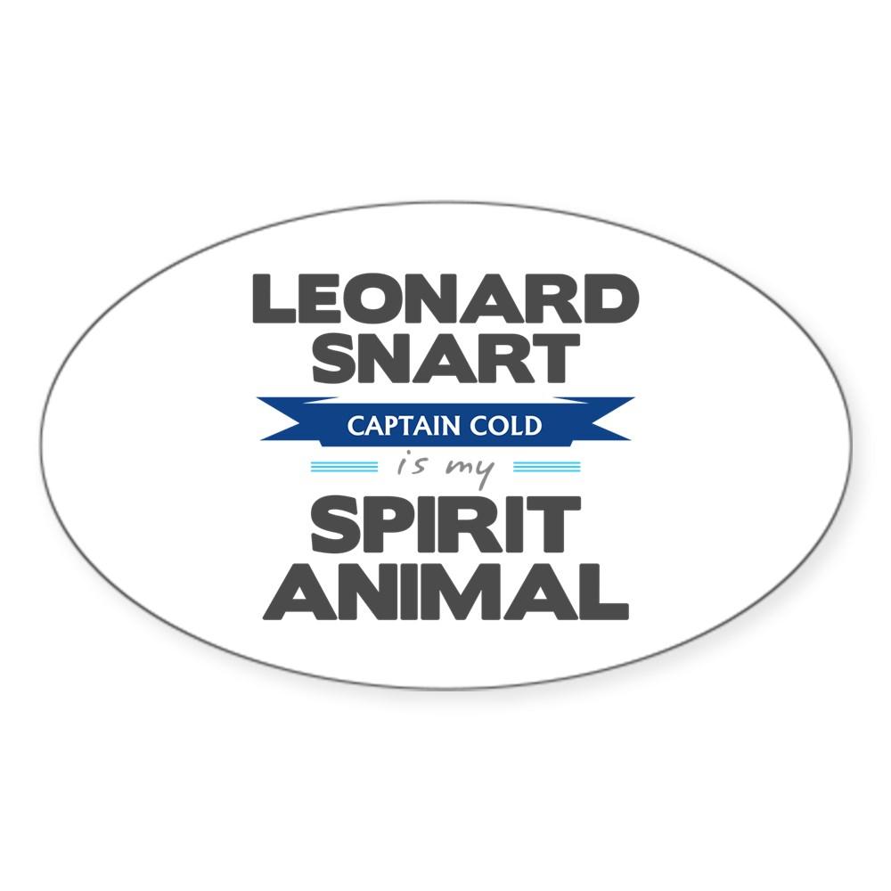 Leonard Snart is my Spirit Animal Oval Sticker