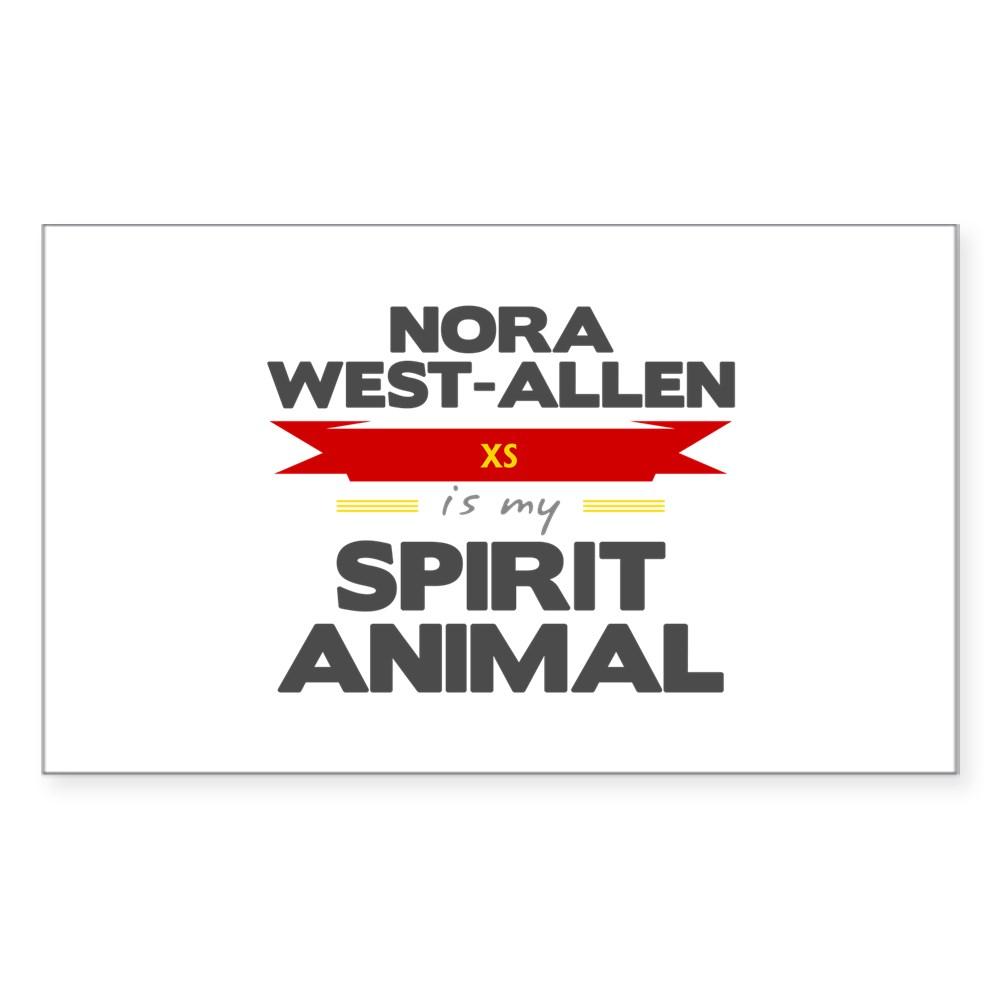 Nora West-Allen is my Spirit Animal Rectangle Sticker