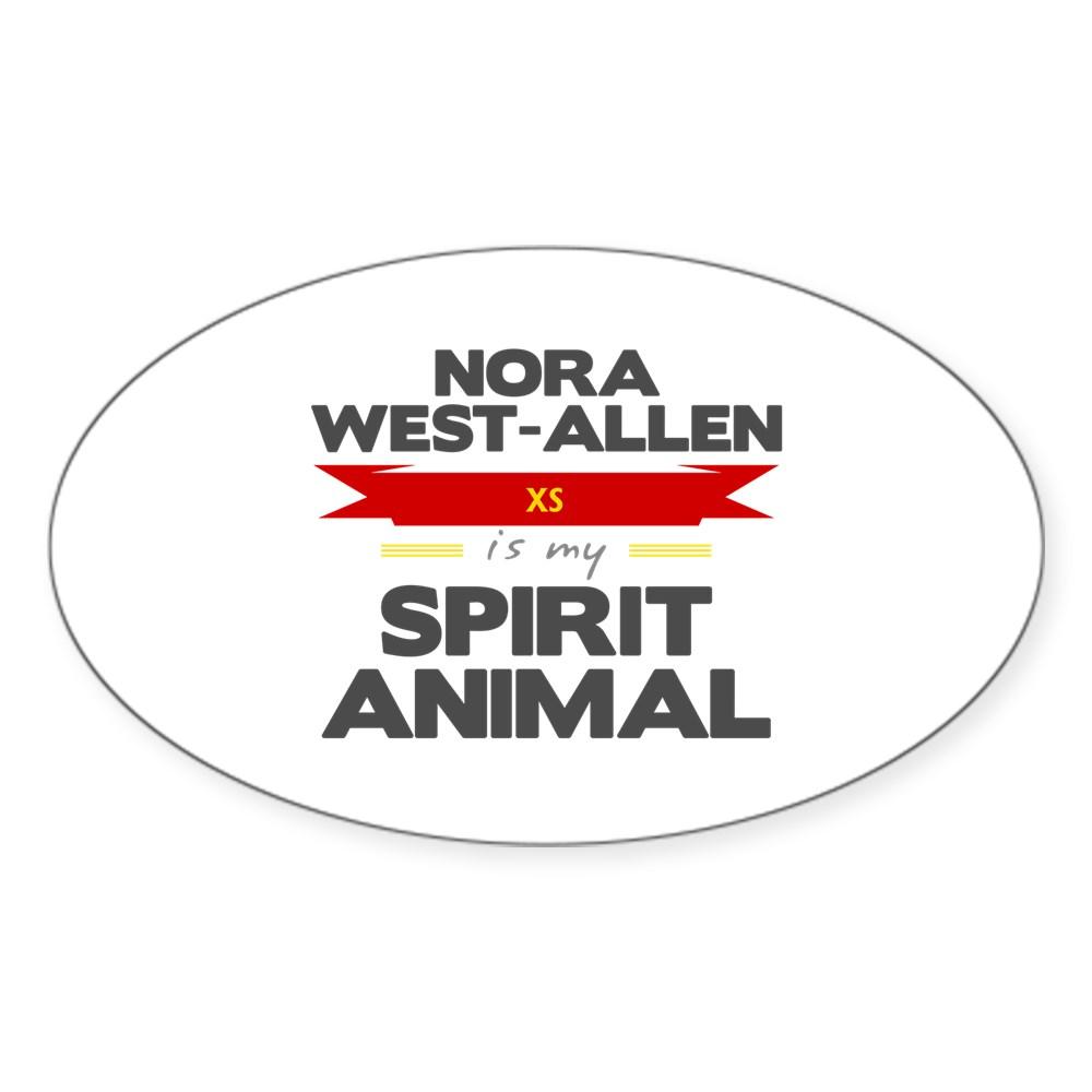 Nora West-Allen is my Spirit Animal Oval Sticker