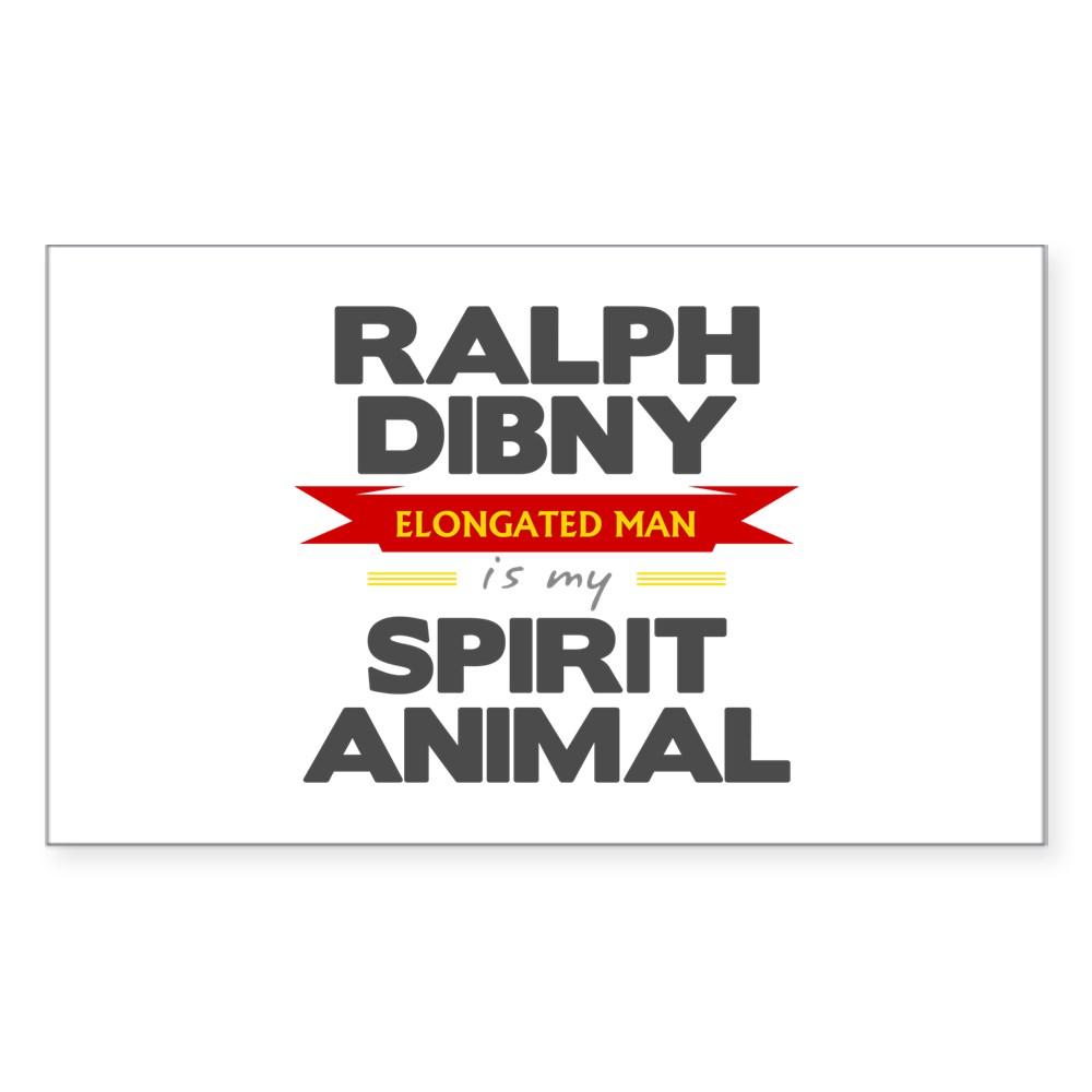 Ralph Dibny is my Spirit Animal Rectangle Sticker