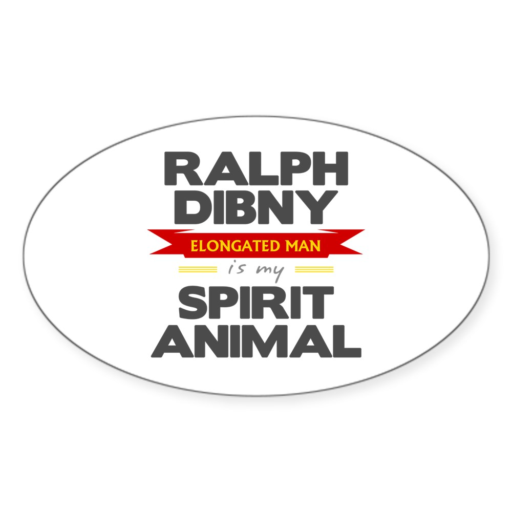 Ralph Dibny is my Spirit Animal Oval Sticker