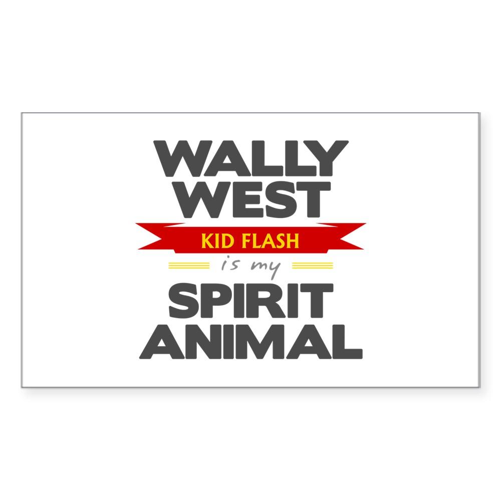 Wally West is my Spirit Animal Rectangle Sticker