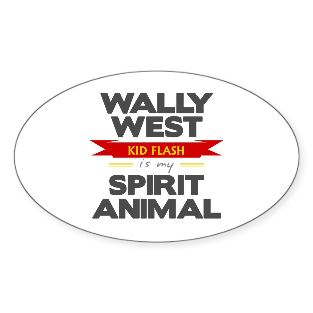 Wally West is my Spirit Animal Oval Sticker