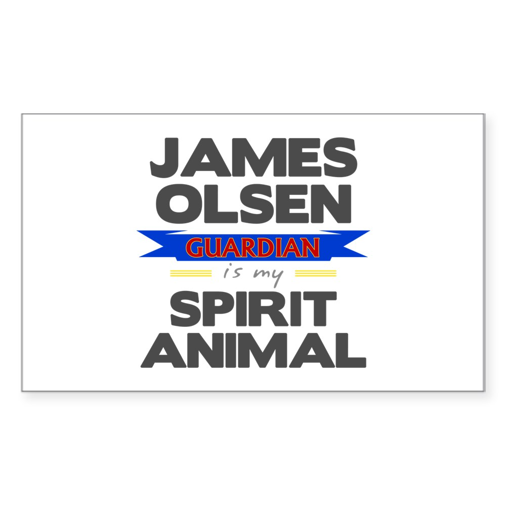 James Olsen is my Spirit Animal Rectangle Sticker
