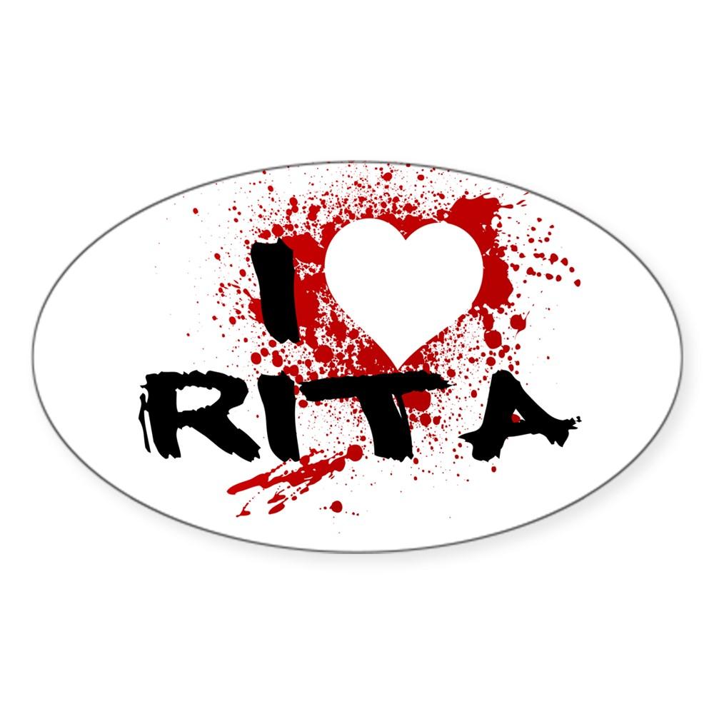 I Heart Rita - Dexter Oval Sticker