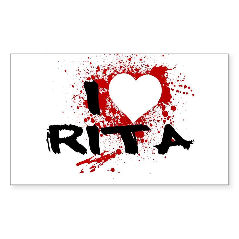 I Heart Rita - Dexter Rectangle Sticker