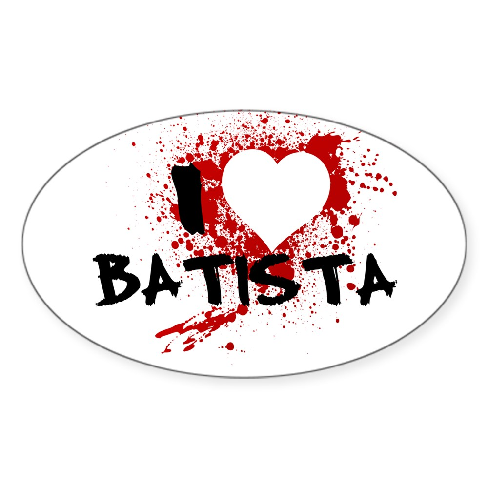 I Heart Batista - Dexter Oval Sticker