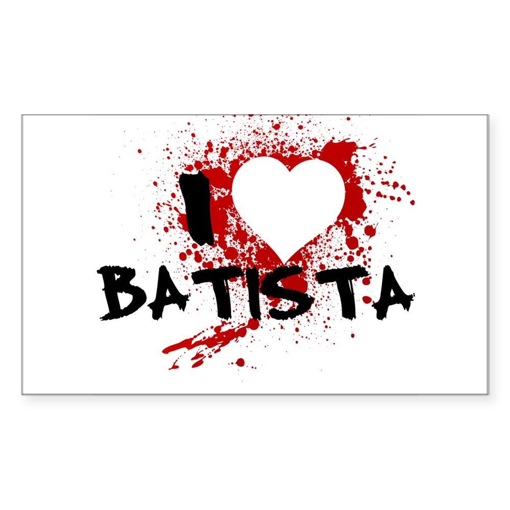 I Heart Batista - Dexter Rectangle Sticker