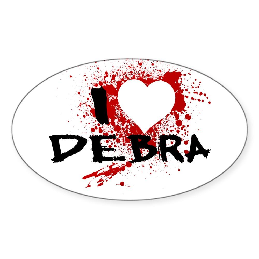 I Heart Debra - Dexter Oval Sticker