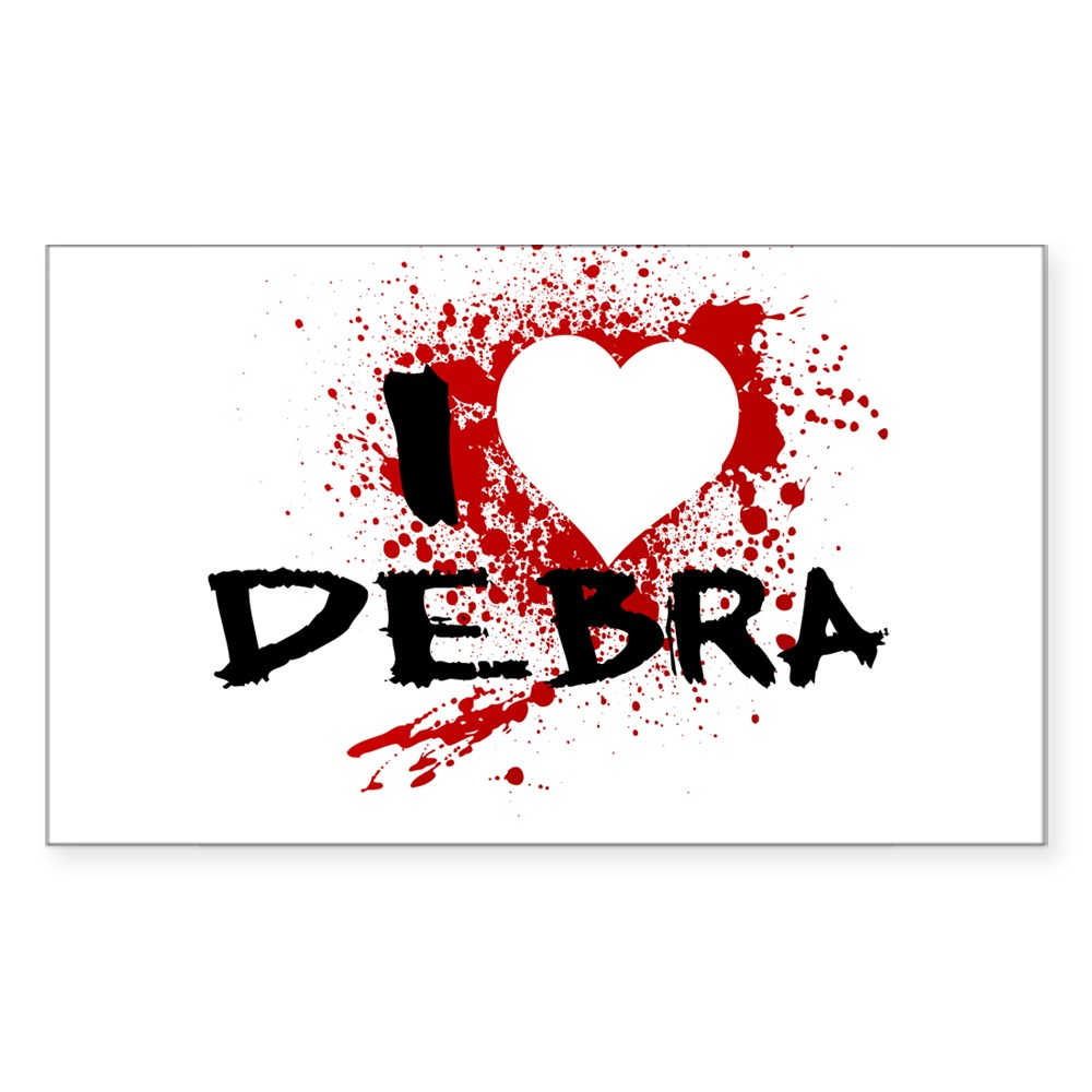 I Heart Debra - Dexter Rectangle Sticker