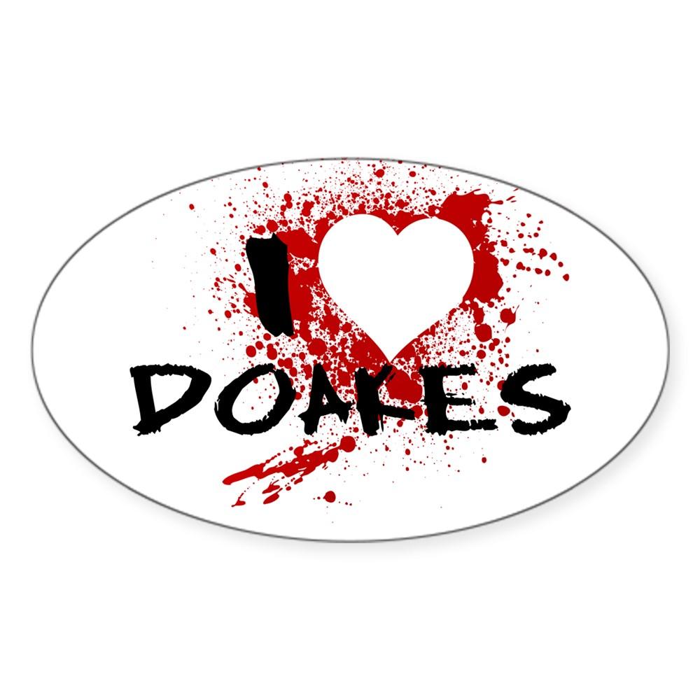 I Heart Doakes - Dexter Oval Sticker