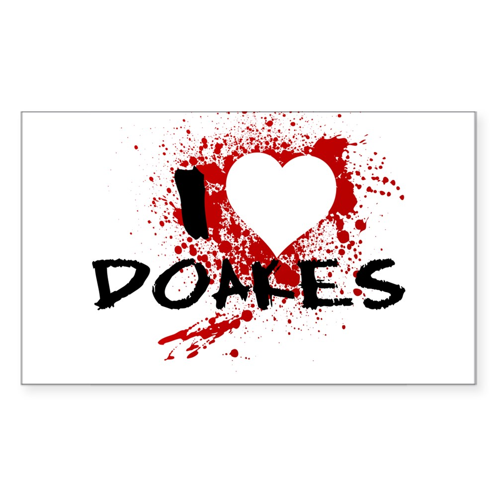 I Heart Doakes - Dexter Rectangle Sticker