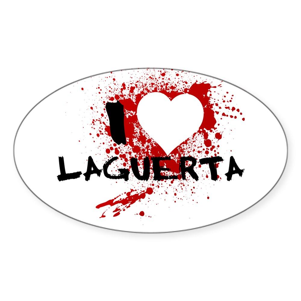 I Heart LaGuerta - Dexter Oval Sticker