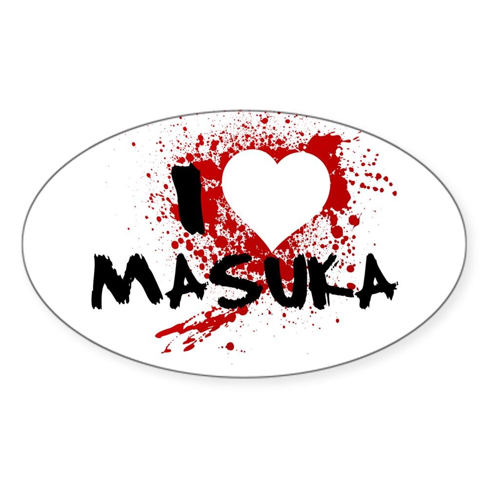 I Heart Masuka - Dexter Oval Sticker