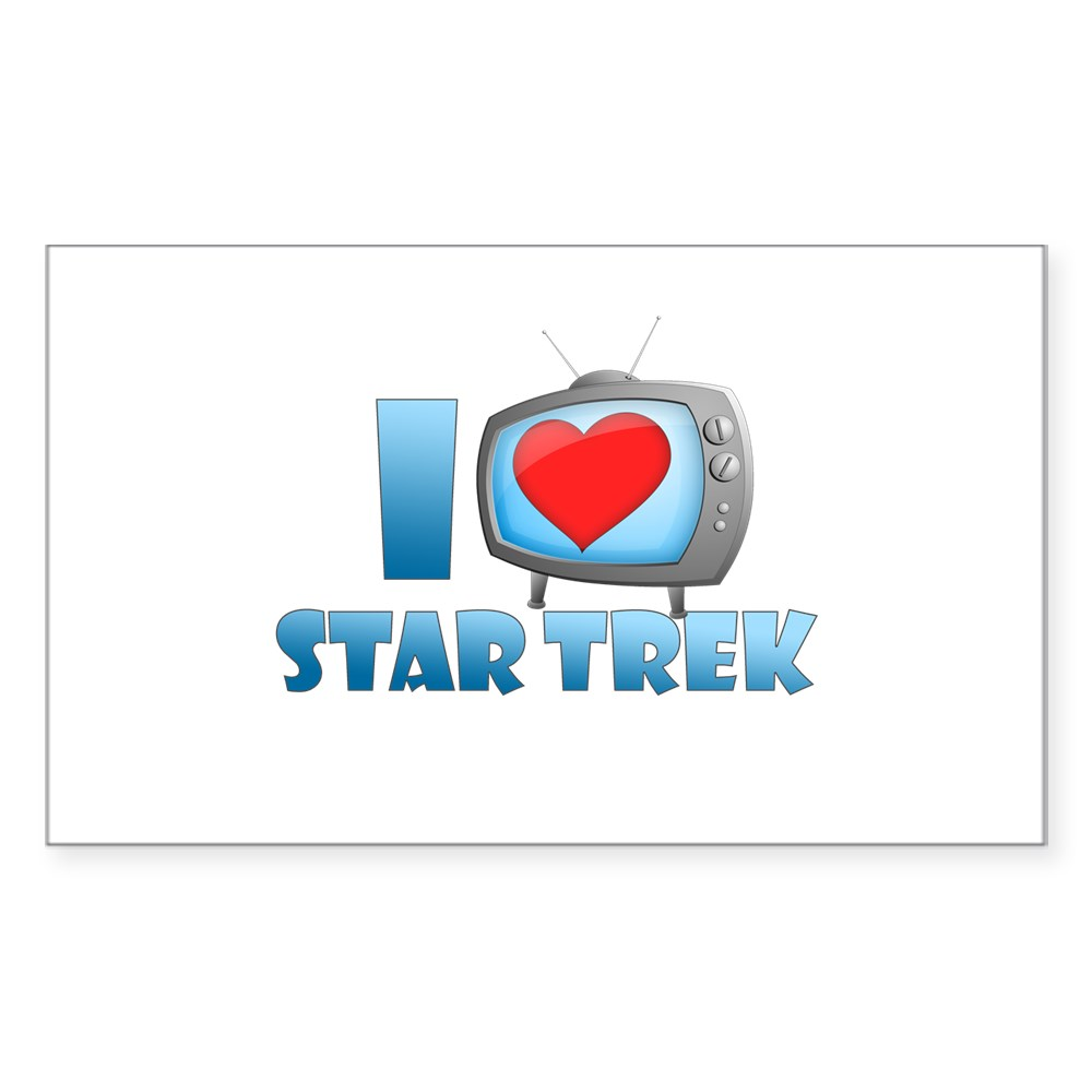 I Heart Star Trek Rectangle Sticker