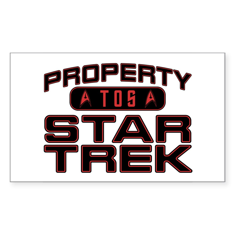 Red Property Star Trek - TOS Rectangle Sticker
