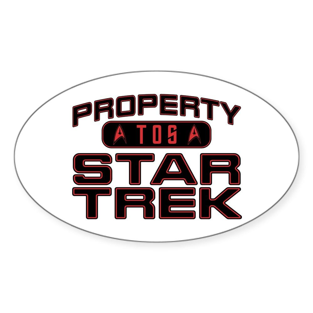 Red Property Star Trek - TOS Oval Sticker
