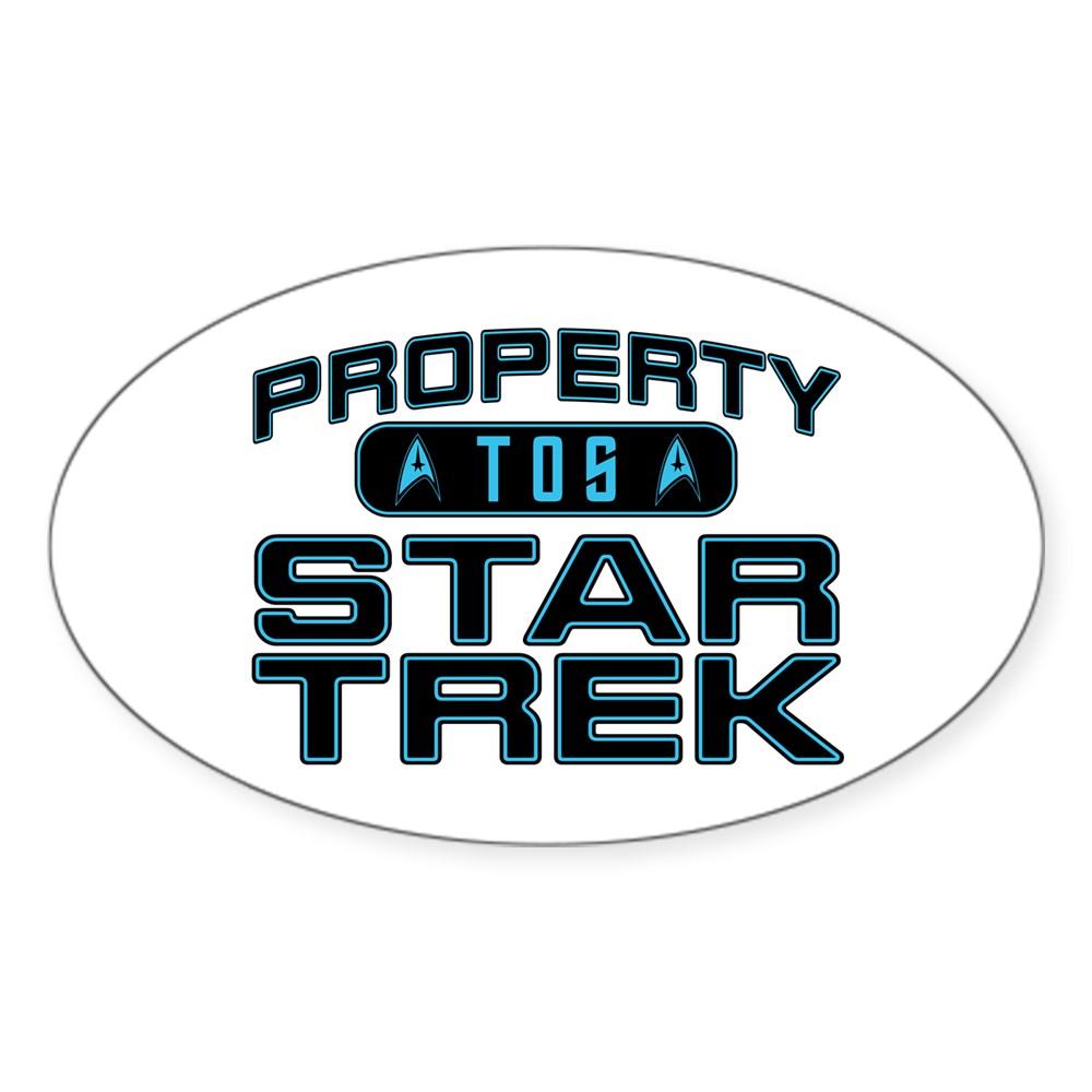 Blue Property Star Trek - TOS Oval Sticker