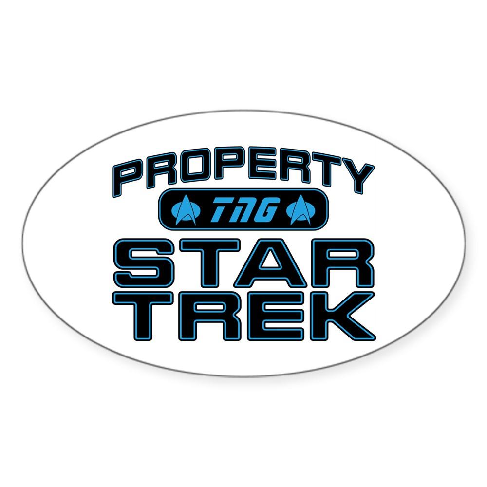 Blue Property Star Trek - TNG Oval Sticker