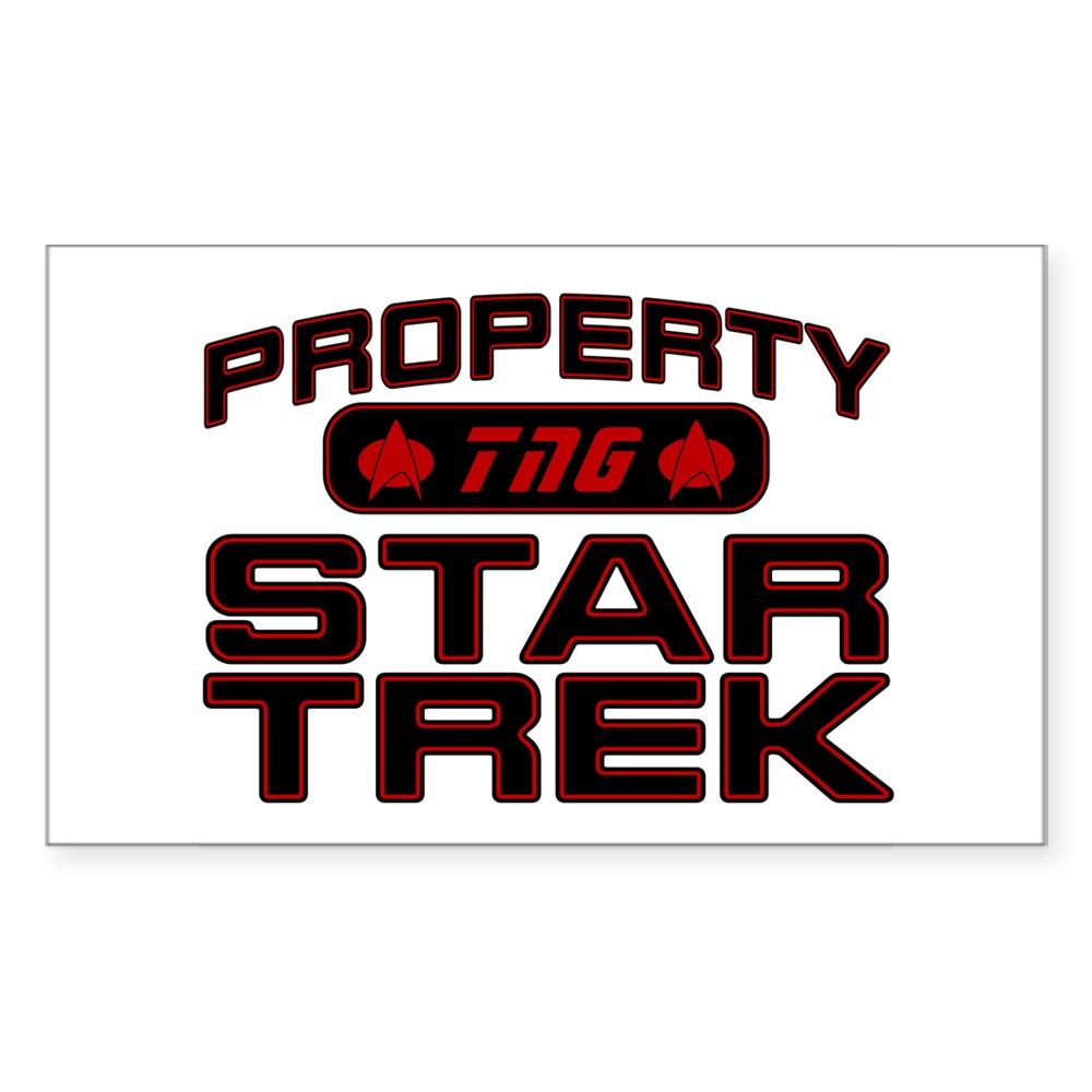 Red Property Star Trek - TNG Rectangle Sticker