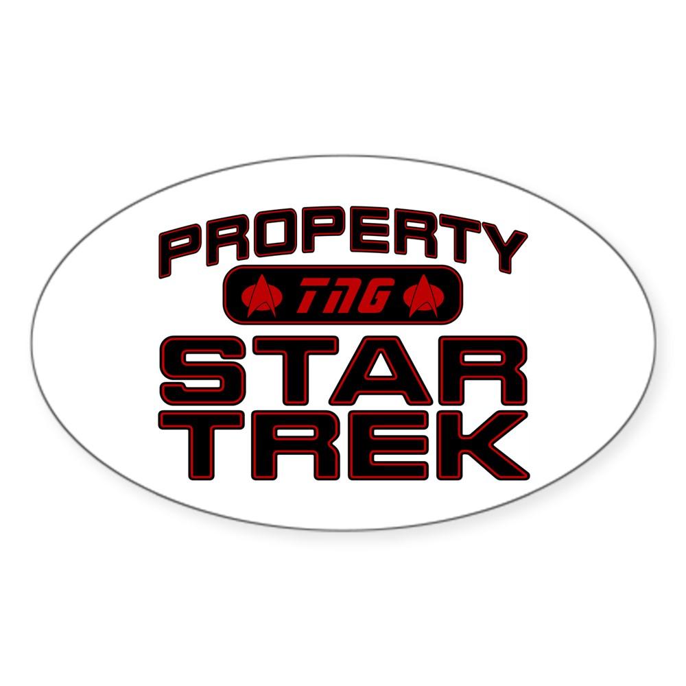 Red Property Star Trek - TNG Oval Sticker