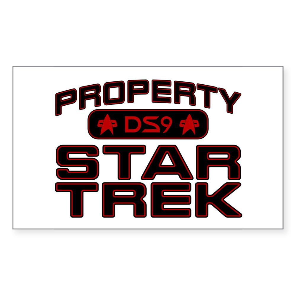 Red Property Star Trek - DS9 Rectangle Sticker