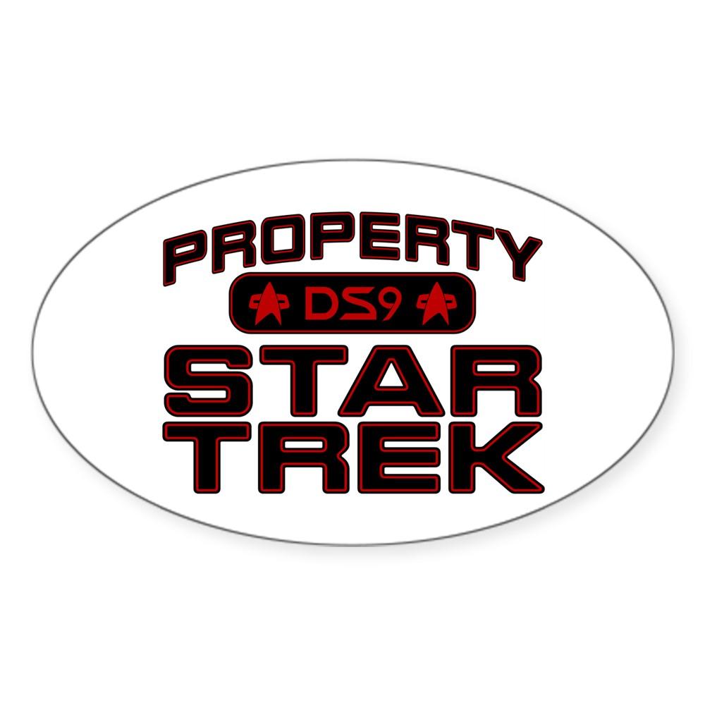 Red Property Star Trek - DS9 Oval Sticker