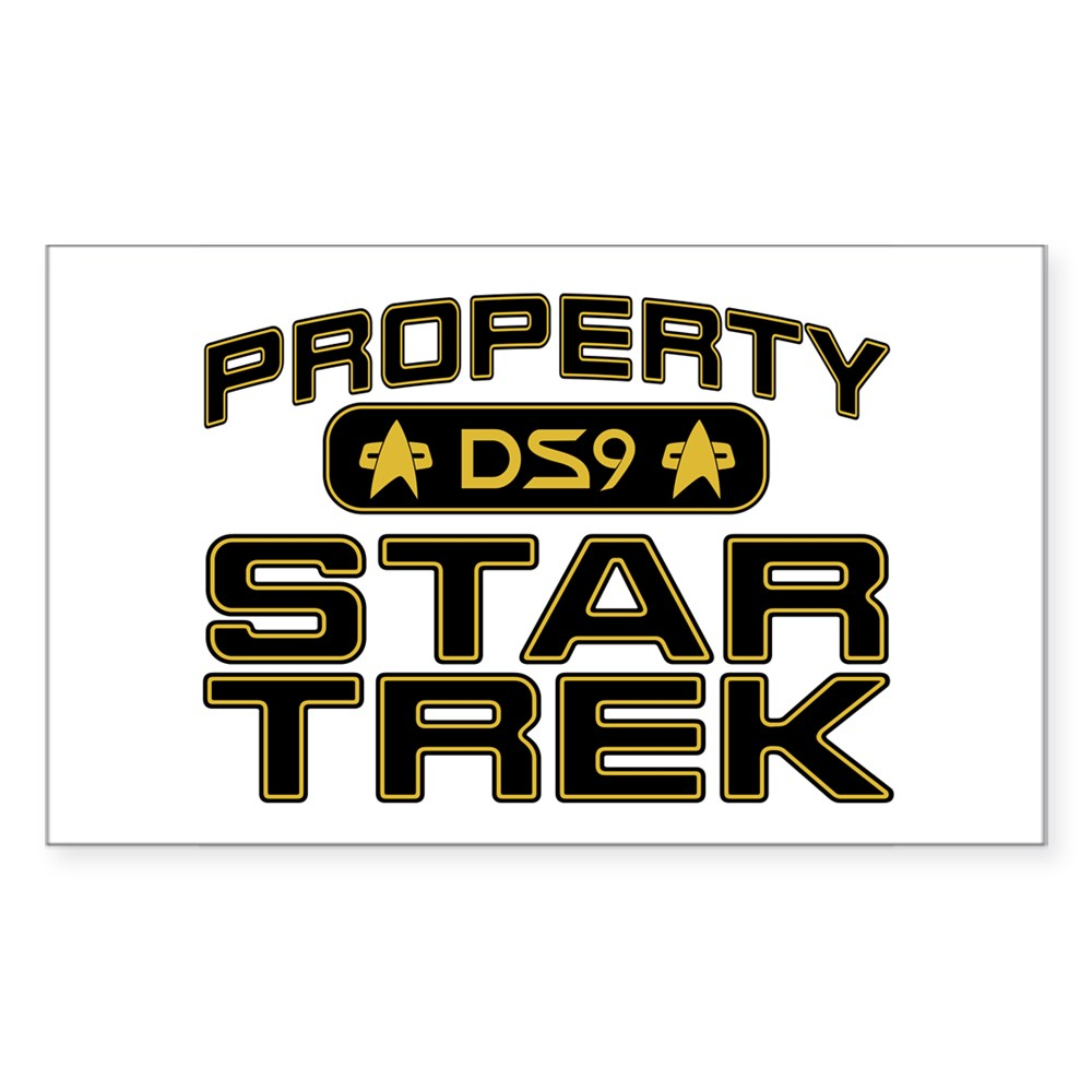 Gold Property Star Trek - DS9 Rectangle Sticker