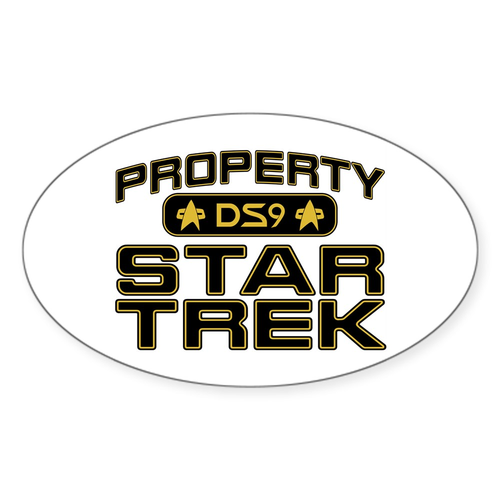 Gold Property Star Trek - DS9 Oval Sticker