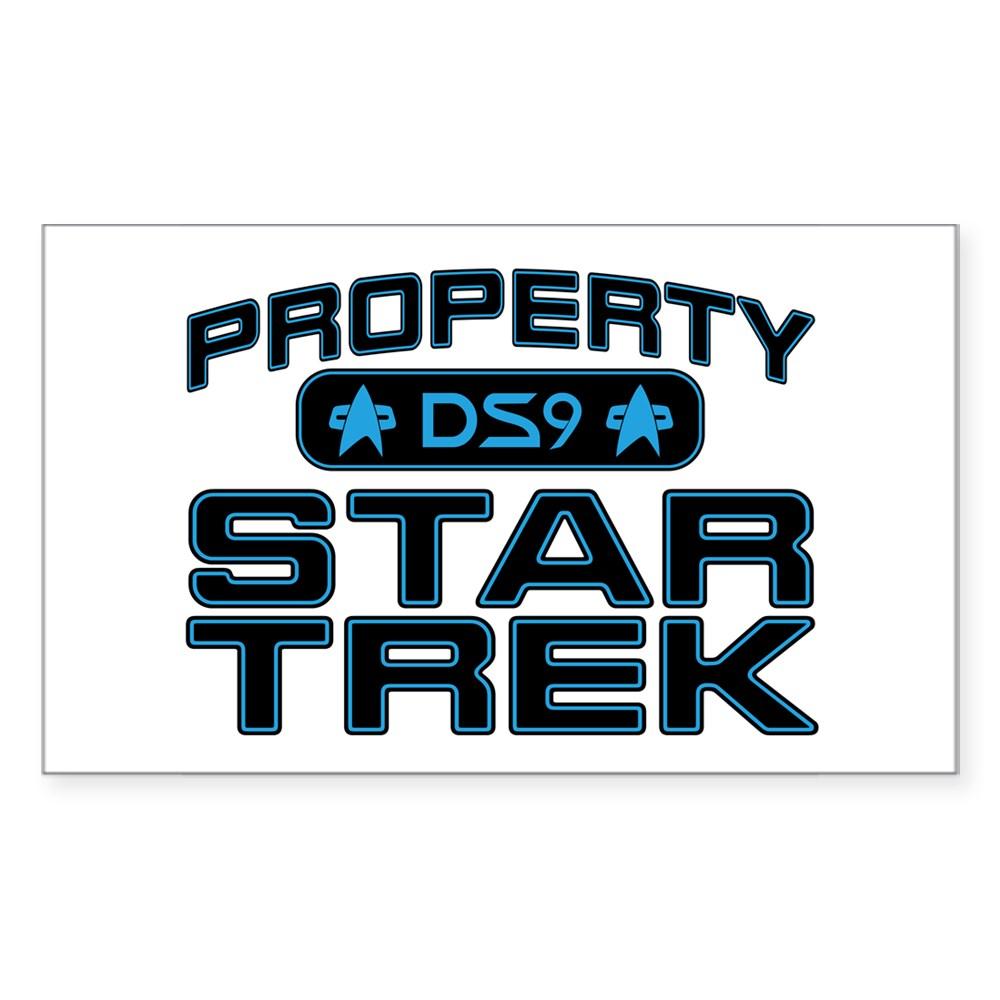 Blue Property Star Trek - DS9 Rectangle Sticker