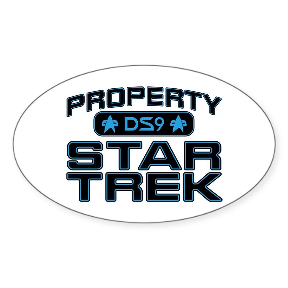 Blue Property Star Trek - DS9 Oval Sticker