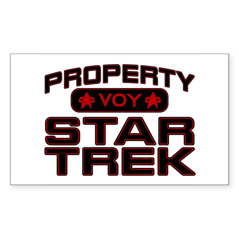 Red Property Star Trek - VOY Rectangle Sticker