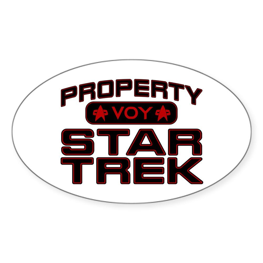 Red Property Star Trek - VOY Oval Sticker