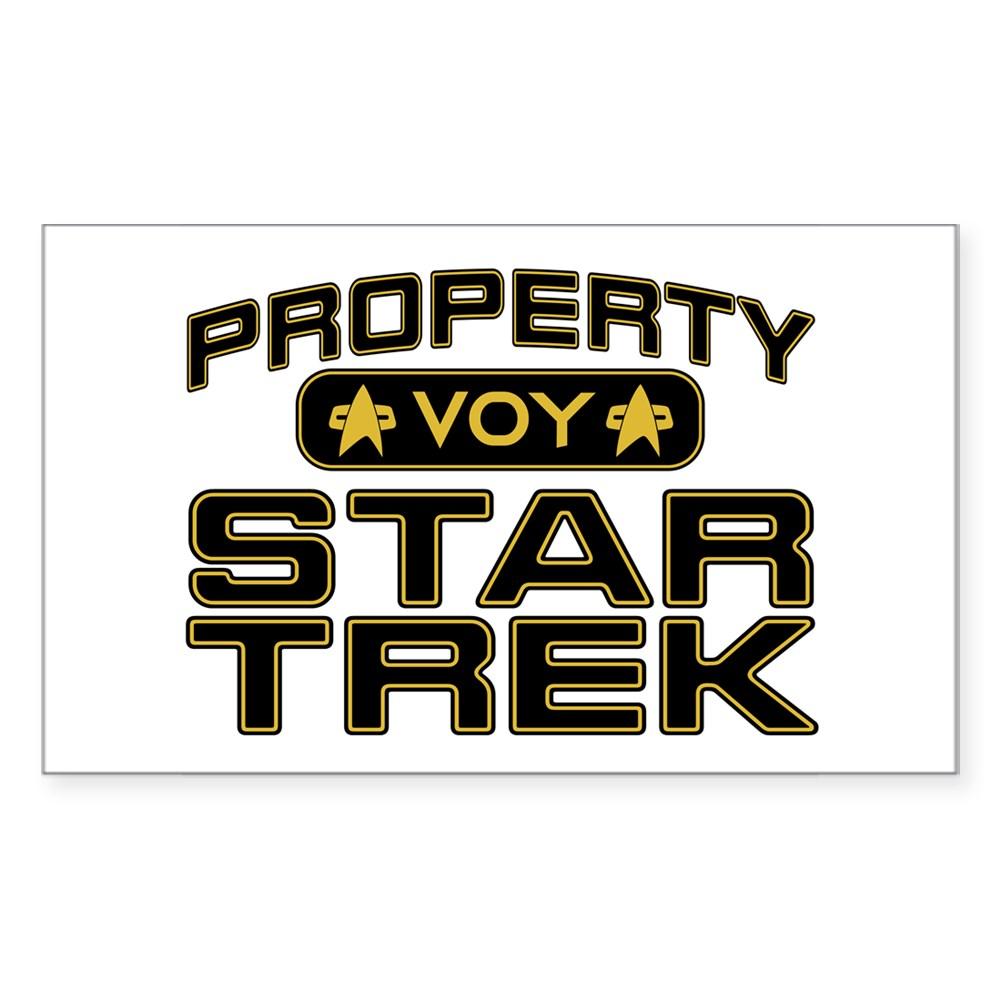 Gold Property Star Trek - VOY Rectangle Sticker
