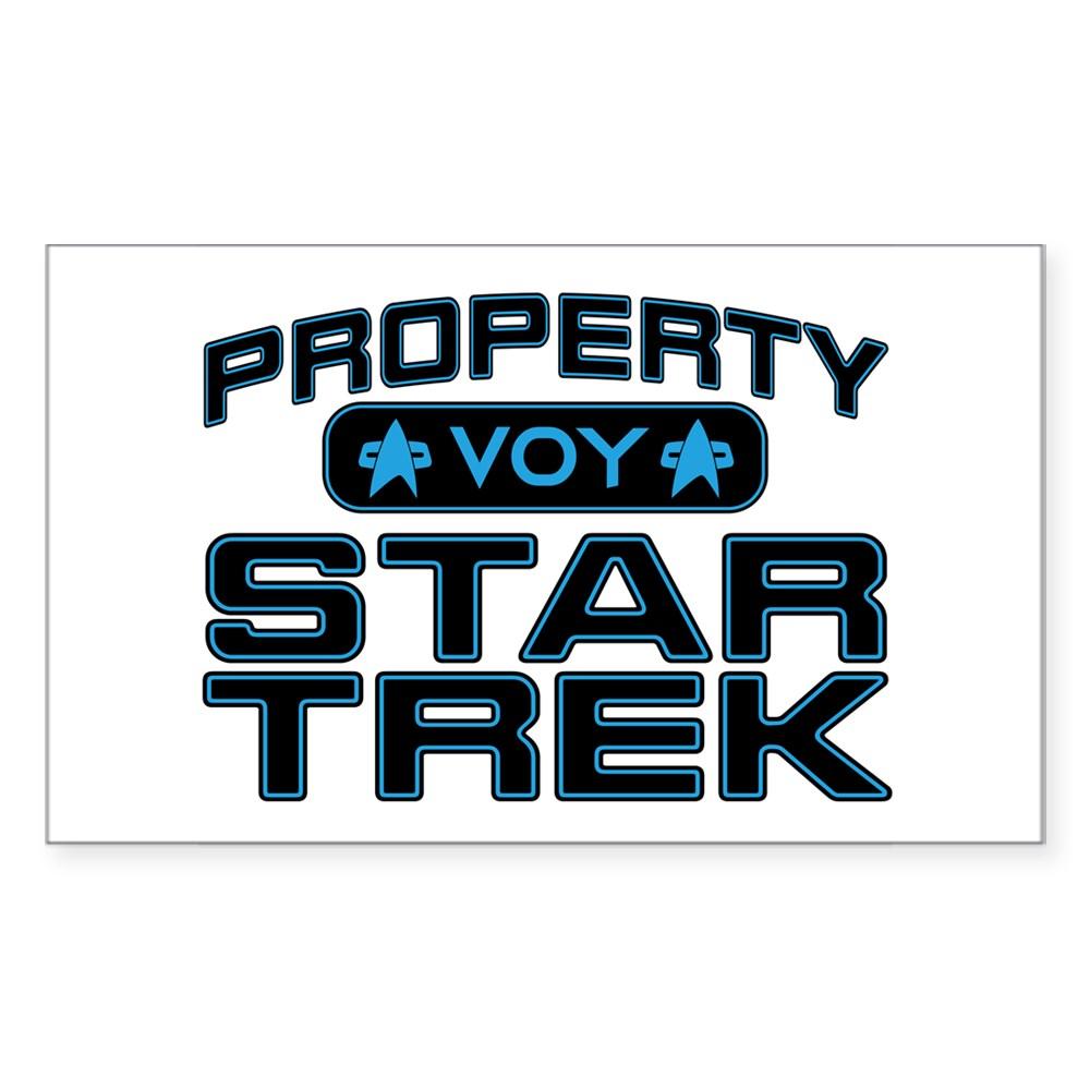 Blue Property Star Trek - VOY Rectangle Sticker
