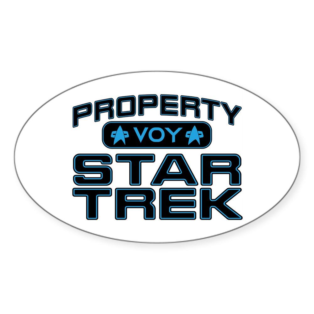 Blue Property Star Trek - VOY Oval Sticker