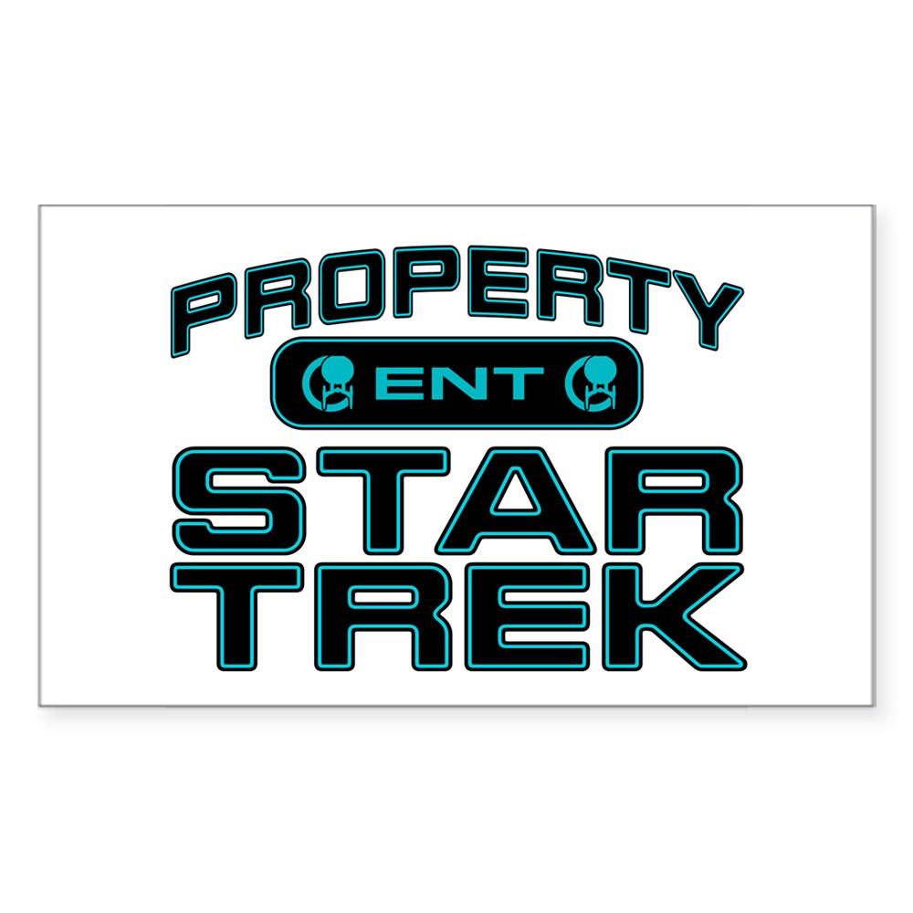 Blue Property Star Trek - ENT Rectangle Sticker